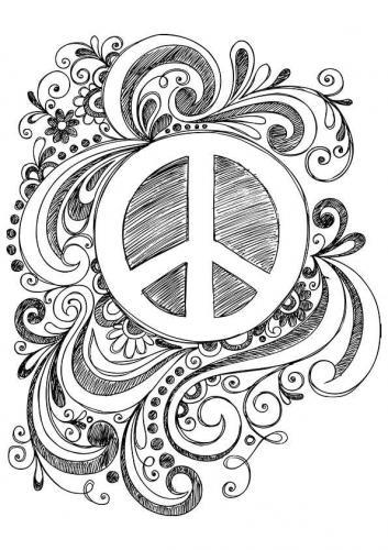 simbolo della pace decorato