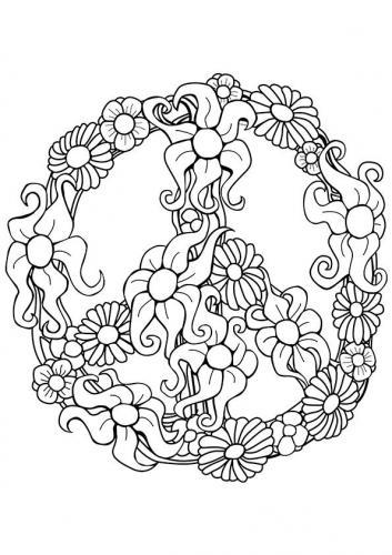 simbolo della pace con fiori