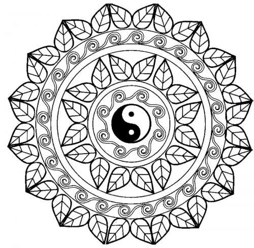 Yin e Yang decorato