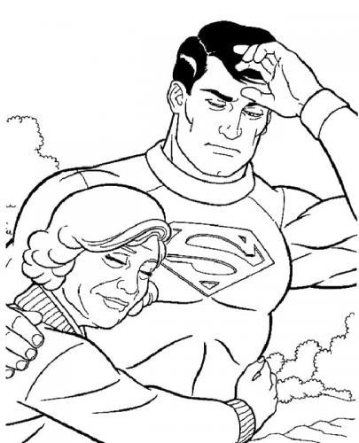 disegni Superman da colorare