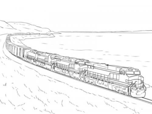 disegni treni
