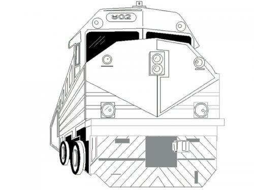 disegni trenini bambini