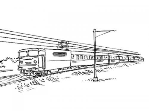 disegni trenino