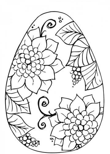 disegni uovo di pasqua da colorare