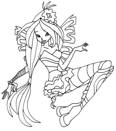 disegni winx sirenix da colorare