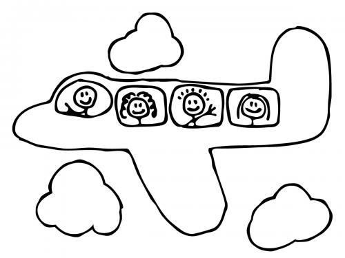disegno aereo bambini
