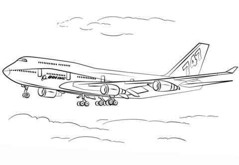 disegno aereo da colorare