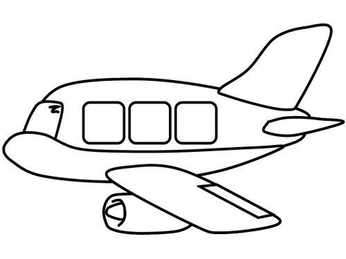 disegno aereo per bambini