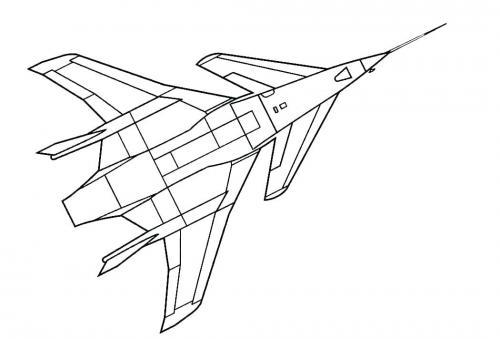disegno aeroplano da colorare