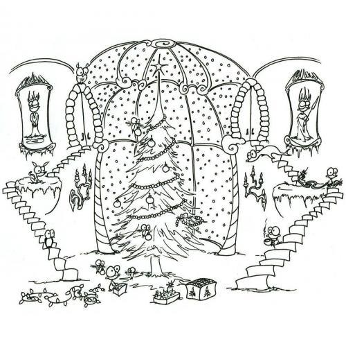 disegno albero natale