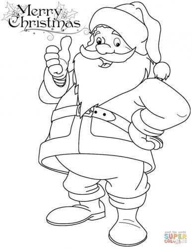 Babbo Natale da stampare e colorare