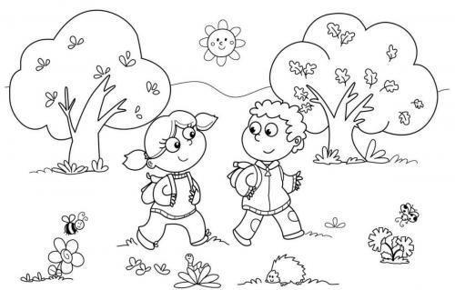 bimbi nel parco