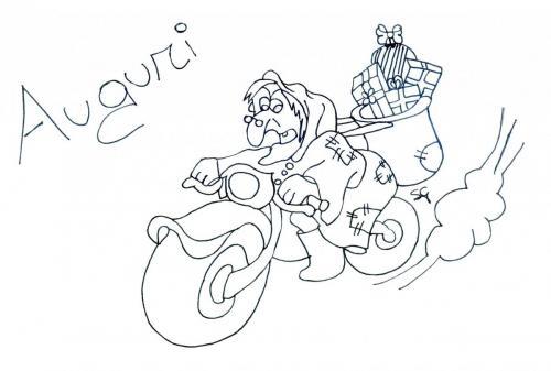 La Befana sulla moto