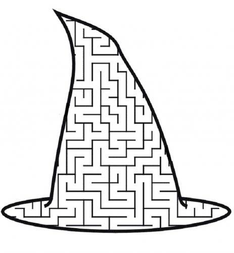 Cappello della Befana con labirinto