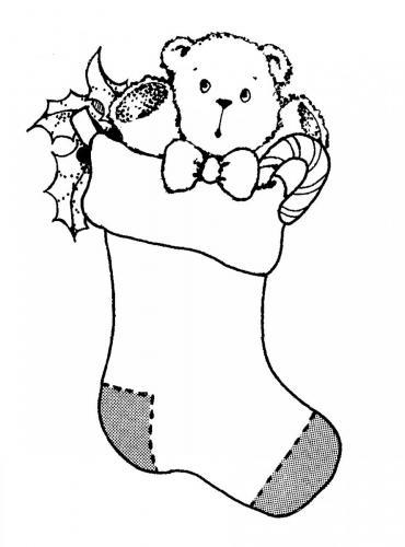 Calza con orsacchiotto