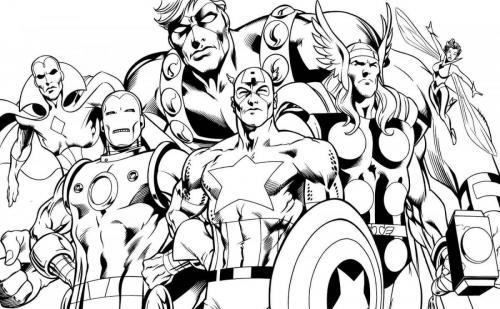 disegno avengers