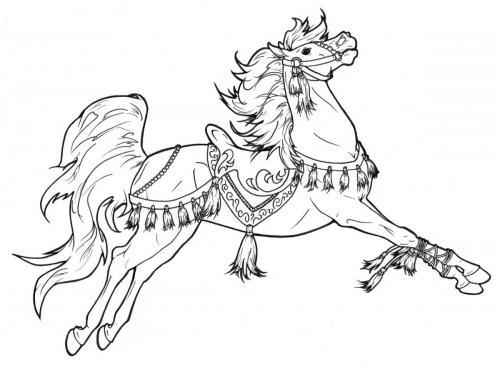 disegno cavallo per adulti
