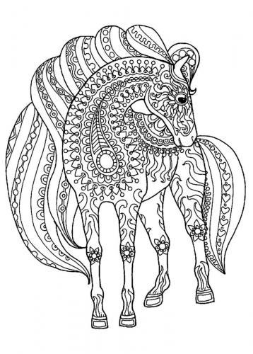 disegno cavallo stilizzato