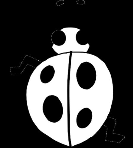 disegno coccinella da stampare