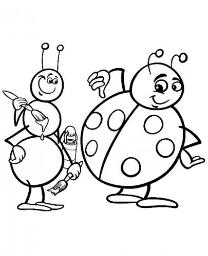 disegno coccinella per bambini