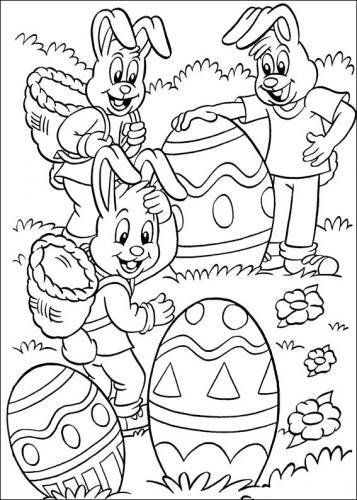 disegno coniglio di pasqua