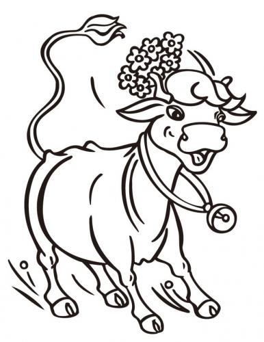 mucca con sonaglio