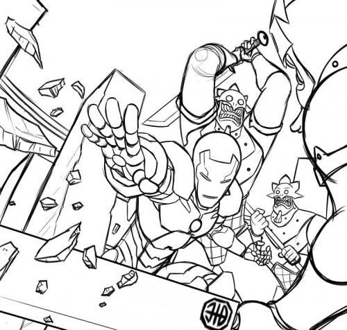 disegno da colorare Avengers