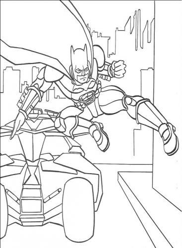 disegno da colorare batman