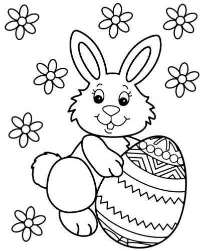 disegno da colorare coniglio