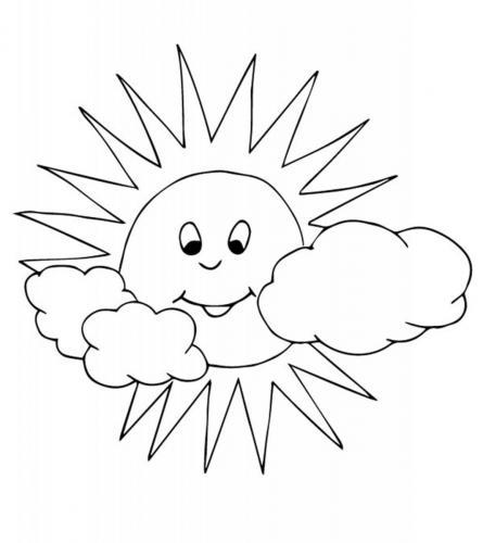 sole sorridente tra le nuvole