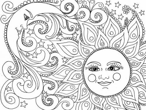 disegno del sole e della luna