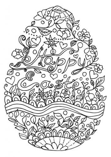 disegno da colorare di pasqua