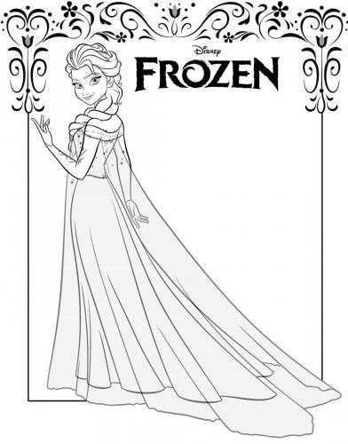 Disegno da colorare di Elsa