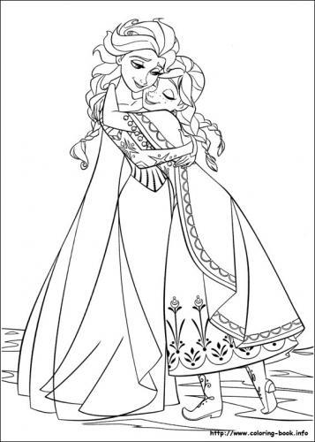 Anna e Elsa si abbracciano
