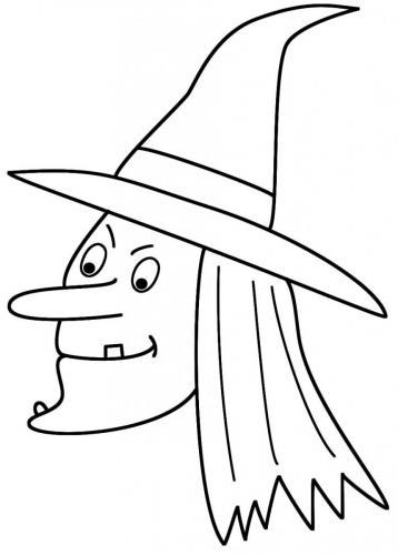 viso della strega di Halloween