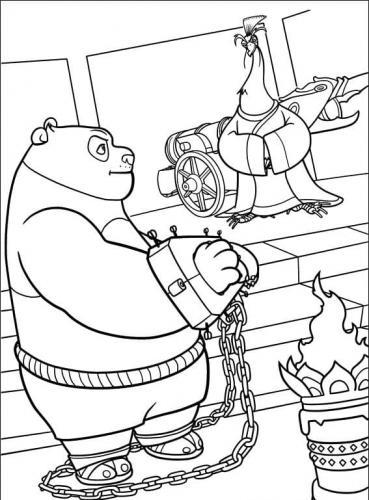 disegno da colorare Kung Fu Panda