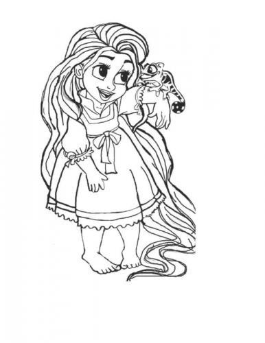disegno da colorare rapunzel