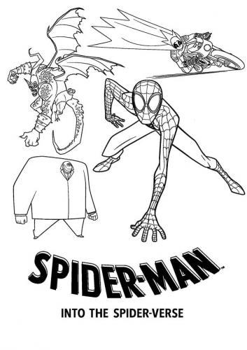 disegno da colorare uomo ragno