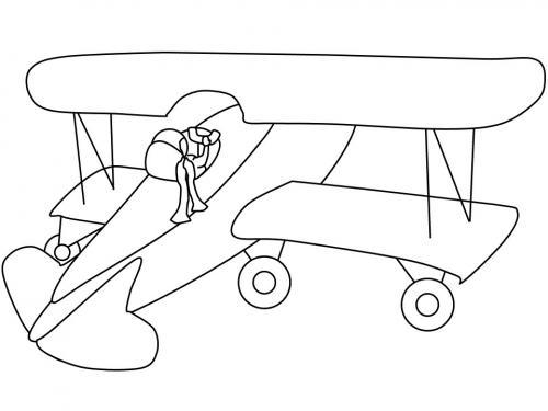 disegno di aereo per bambini