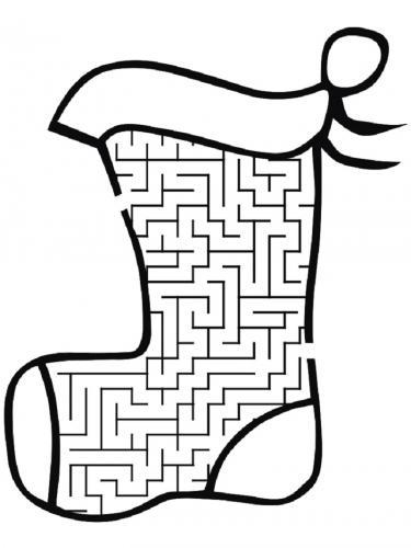 Calza della Befana con labirinto
