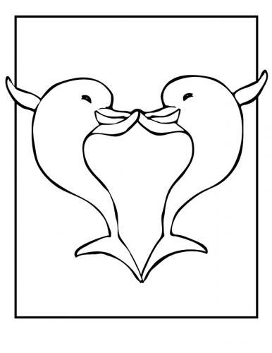disegno di delfini
