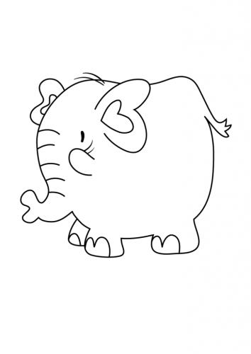 disegno di elefante