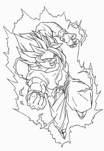 disegno di Goku
