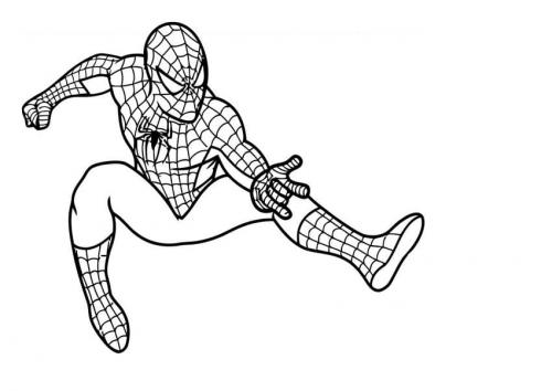 disegno di spiderman