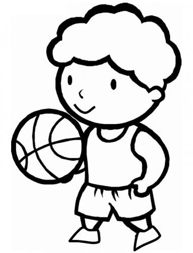 bimbo che fa pallacanestro