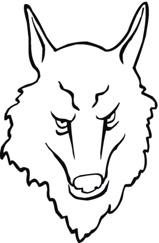 disegno di un lupo per bambini