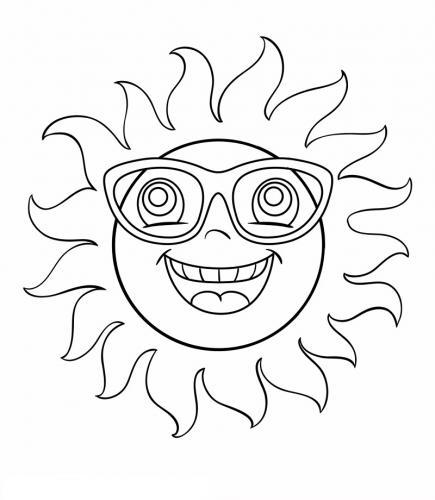 sole buffo con occhiali