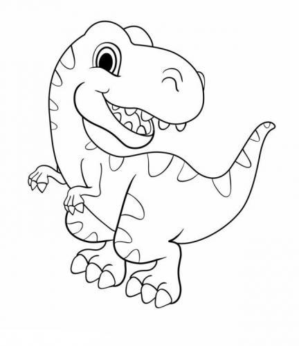disegno dinosauro per bambini