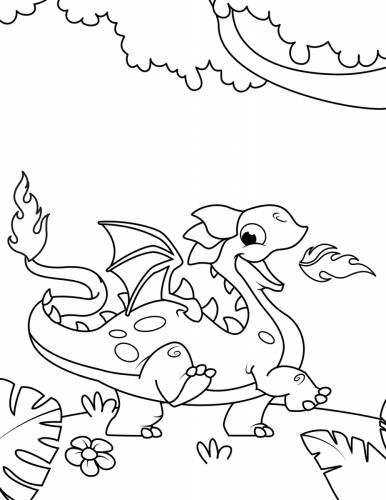 disegno drago per bambini