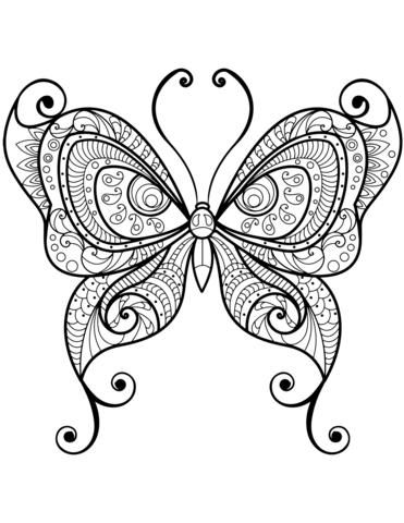 disegno farfalla stilizzata